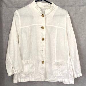 Linen Cream Shirt Jacket Med/LG